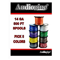 Choose 5 colors 14 Ga 500 ea Audiopipe Car Audio Home Primary Remote Wire