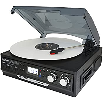 Marvelous Boytone BT 37B C Bluetooth 3 Speed Stereo Turntable, Wireless Connect To
