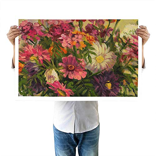 (Detail of a Bouquet of Summer Flowers Oil Paintingslandscapecrafts32