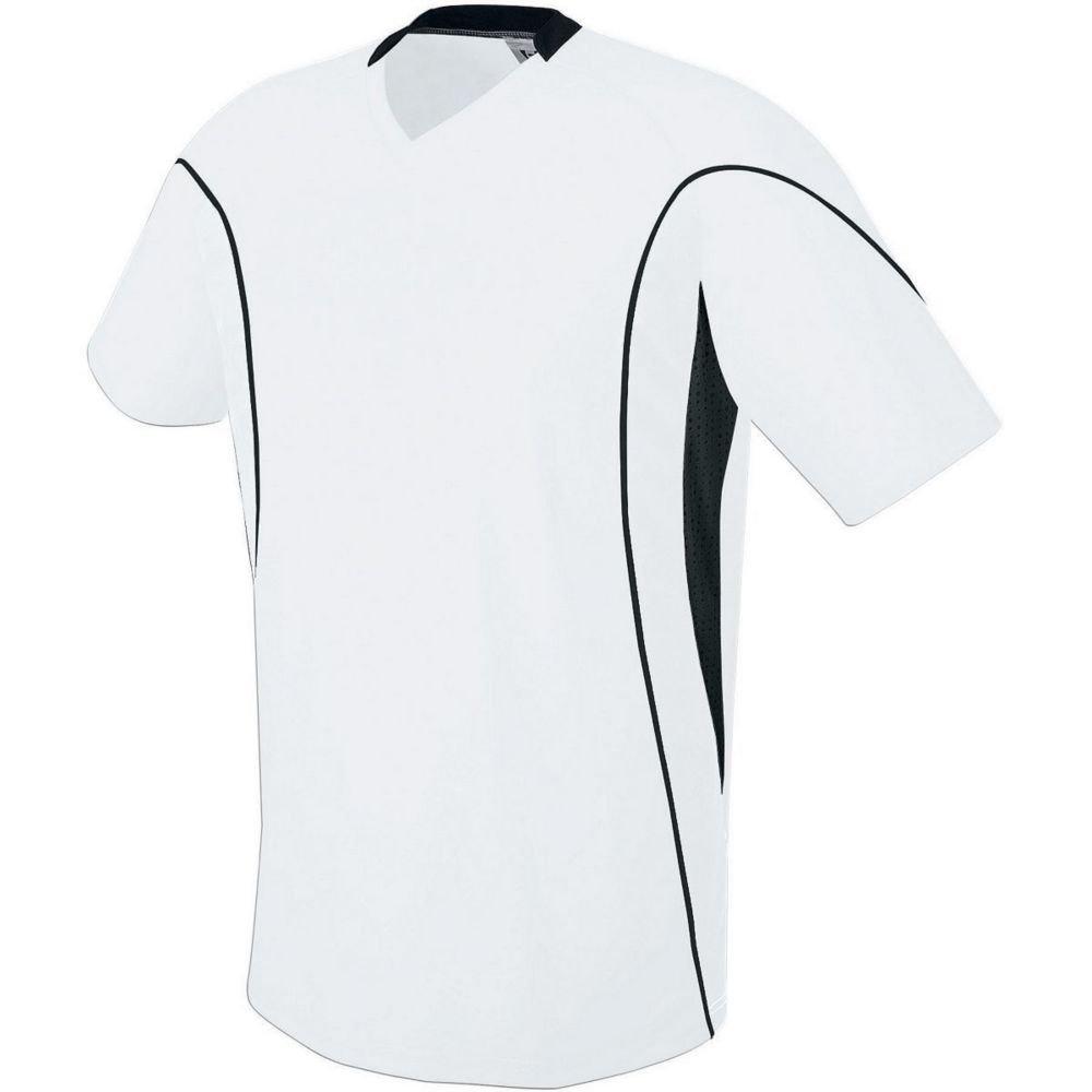 High Five Sportswear SHIRT メンズ B07C1D7BZ6 Small ホワイト/ホワイト/ブラック ホワイト/ホワイト/ブラック Small
