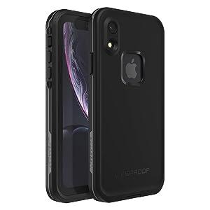 Lifeproof FRE SERIES Waterproof Case for iPhone XR - Retail Packaging - ASPHALT (BLACK/DARK GREY)