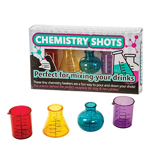 (Funtime Gifts Plastic Chemistry Shots Glasses , Multi-colour, Set Of 4)