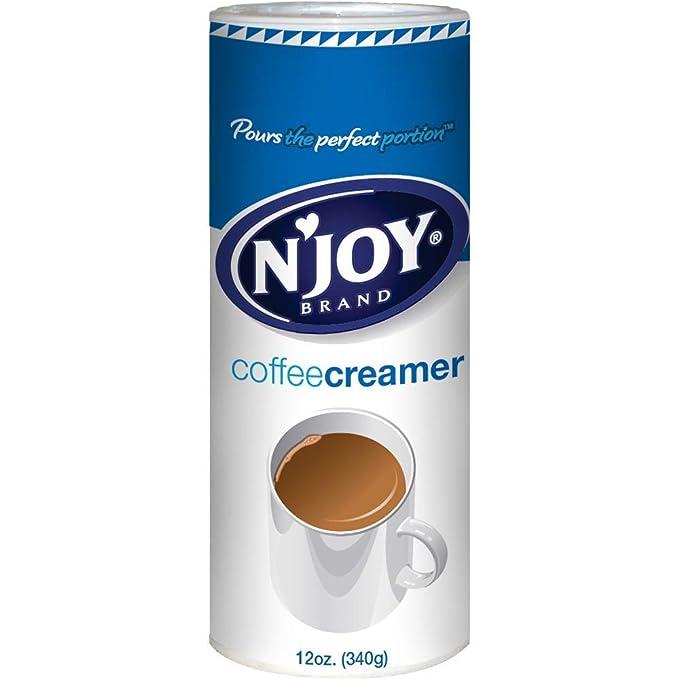 Amazon.com: NJoy - Crema de café, no láctea, 12 oz, Paquete ...