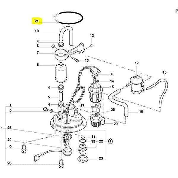 KEMSO Intank Fuel Pump for Ducati Superbike 748 748R 748S 2000-2004