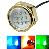 Outdoor Lights Aluminum Alloy 93W RGB Cree LED Marine Underwater Drain Plug Light Lamps with Remote Control for Boat Yacht, DC 11-28V Garden Lights