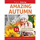 Amazing Autumn: Grayscale Coloring Book for Adults
