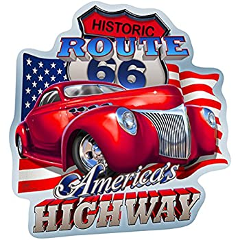Route 66 America's Highway Novelty Sign | Indoor/Outdoor | Funny Home Décor For Garages, Living Rooms, Bedroom, Offices | Signmission Personalized Gift Wall Plaque Decoration