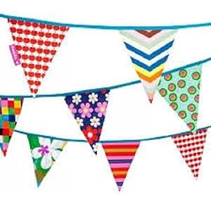 Banderola larga colorida de algodón Manzana - 11.5m largo - Engel / La vida es una fiesta