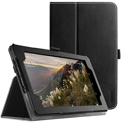 New Amazon Fire 7 2017 Case Slim Leather Stand Folio Case with Auto Wake/Sleep for Amazon Fire 7 (7th Generation, 2017 Release) Black ()