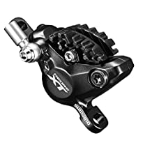 Shimano Deore XT BL/BR-M8000 Trail Disc Brake Levers/Calipers (Pre Bled; Front / Left, 1000mm, Black, Retail Package)