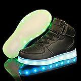 TUTUYU Kids&Adult 11 Colors LED Light Up Shoes High