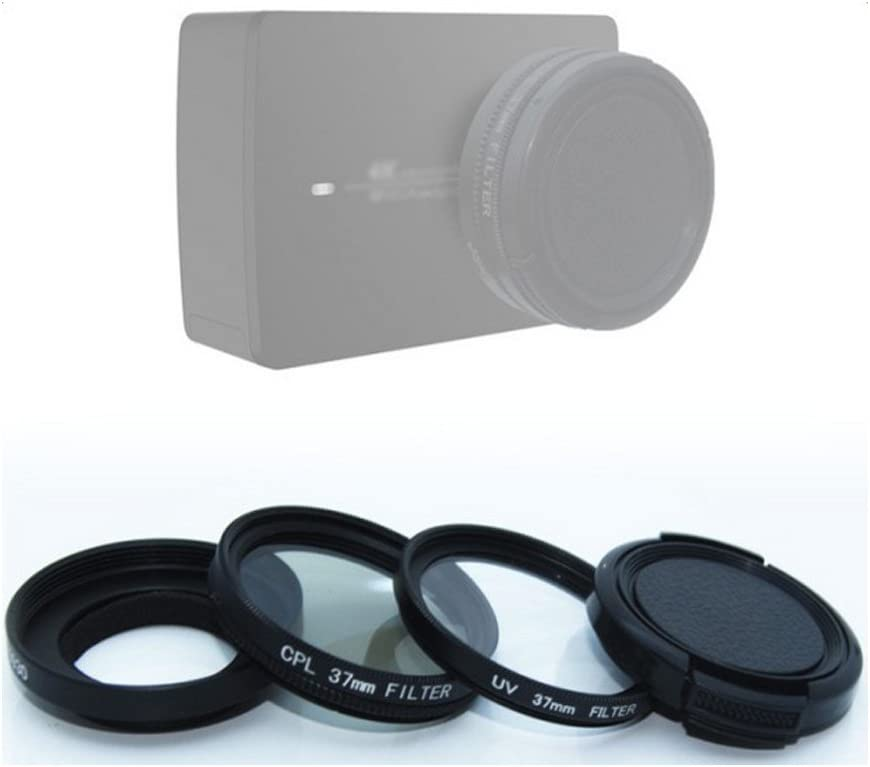 37mm CPL Filter UV Filter /& Lens Cover Kit Camera Accessories for Xiaoyi 4K