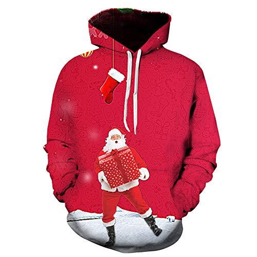 Autunno Felpe 3d Inverno Rosso Sweatershirt c Cime Bhydry Natale Lunga Manica Stampa Mens 8gqfwx5FA