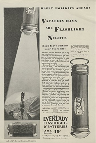 1929-ad-eveready-flashlight-vacation-days-scouts-camping-original-print-ad