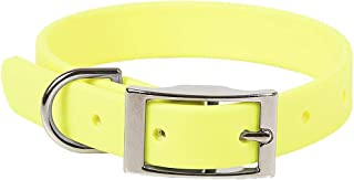 product image for Mendota Pet Durasoft Imitation Leather Collar - Standard Collar - Made in The USA - Waterproof, Odor Resistant - Yellow, 3/4 in x 12 in (Narrow)