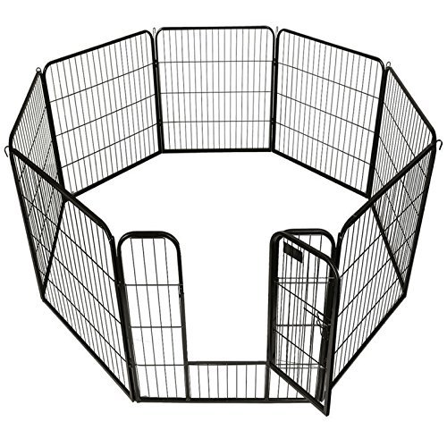 BestPet Heavy Duty Pet Playpen Dog Cat Fence B Exercise Pen, 40'' H x 31'' W (40-Inch) ()
