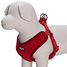 """Blueberry Pet Better Basic No Pull Dog Harness Vest for Small Dogs, Rouge Red, Chest Girth 17"""" - 21"""""""