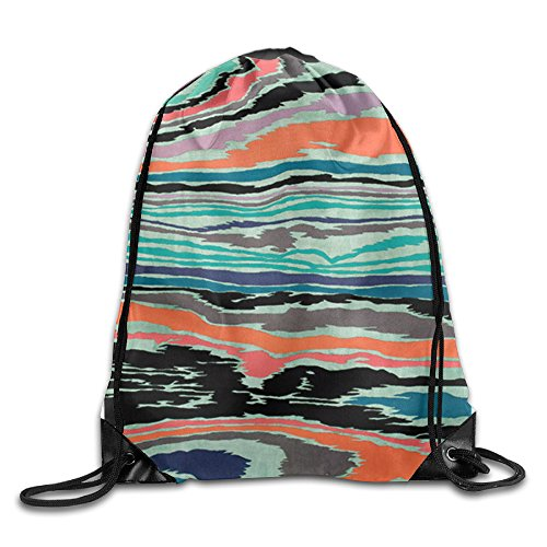 Price comparison product image Sunset Sky Sea Cool Drawstring Travel Sports Backpack