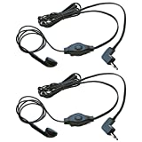 eb ga - Cobra GA-EB M2 Earbud & Microphone MicroTalk Walkie Talkie Headsets (2 Pack)