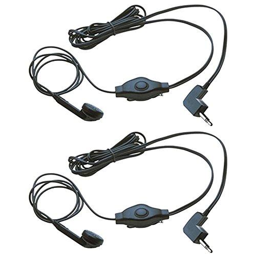 2 Cobra GA-EB M2 Earbud & Microphone MicroTalk Walkie Talkie Headsets, Black