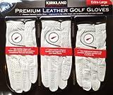 Kirkland Signature Premium Cabretta Leather Golf Gloves, Extra-large, 3-Pack