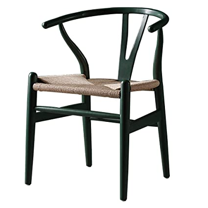 Amazon.com - Chairs Solid Wood Dining Chairs Retro Cowhide ...