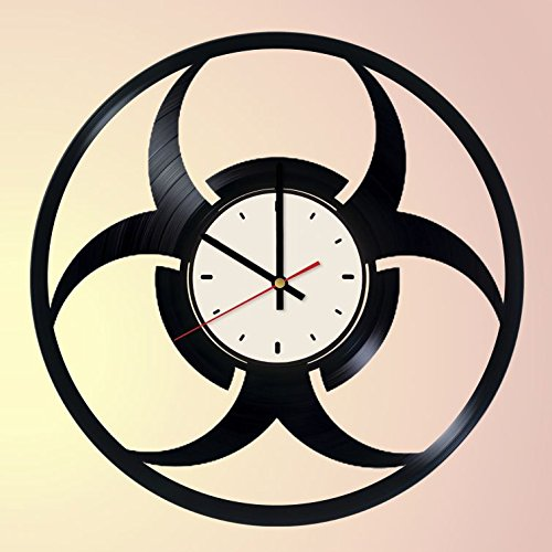 - Biohazard Logo Vinyl Wall Clock Resident Evil Unique Gifts Living Room Home Decor