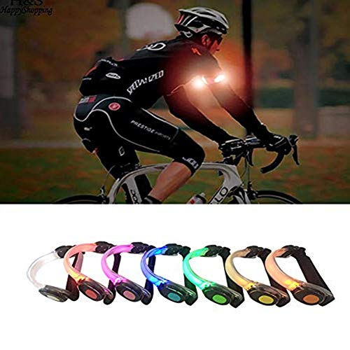 JapanAmStore LED Light Armband, Reflective Adjustable Silicone Running Belt Strap/Waterproof Glow in The Dark for Running Jogging Walking Cycling Concert Camping Outdoor Sports (7-Pack)