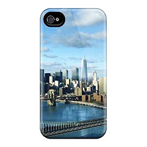 Ultra Slim Fit Hard Angelerson Case Cover Specially Made For Iphone 4/4s- New Skyline