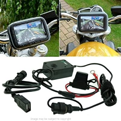 6inch SatNav GPS Powered Motorcycle Mount - USB (SKU 15044)