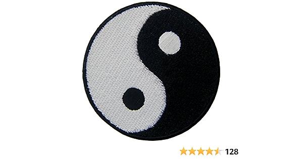 Ying Yang el Taoísmo Bordado Hierro en Coser el Parche