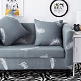 HYSENM 1/2/3/4 Seater Sofa Cover Home Décor Stretch Elastic Slipcover Couch Cover, Feather 2 seater 140-185cm