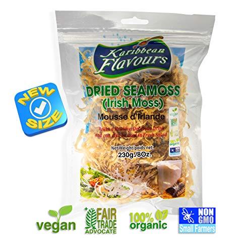 Premium Irish Moss Superfood 230g (8 Ounce) - Wildcrafted - Organic - Non GMO - Vegan - Raw ()