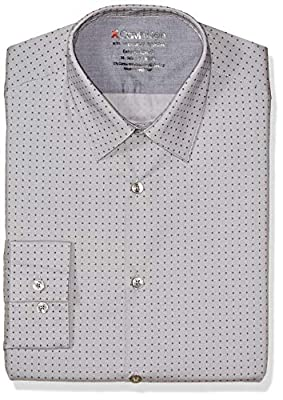 Calvin Klein Men's Dress Shirts Xtreme Slim Fit Print Thermal Stretch