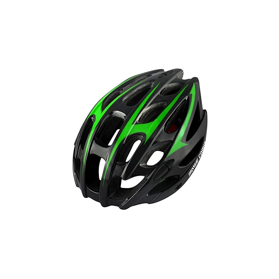 BaseCamp Road Adult Cycling Bicycle Bike Safety Helmet Unisex Fit 56cm 62cm with Visor