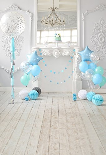 Yeele Birthday Backdrops 6x8ft/1.8 X 2.4M Chandelier Blue