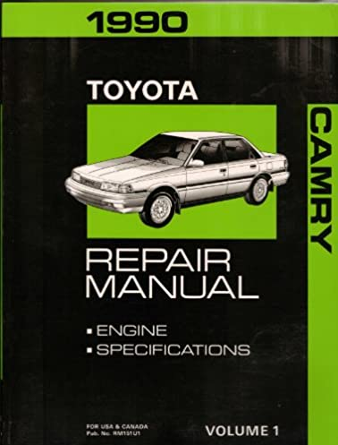 1990 toyota camry repair manual engine specifications volume 1 rh amazon com toyota camry 1990 service manual pdf 1990 toyota camry service manual