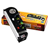 Toworld18 Multipurpose Laser Level Horizon Vertical Measure Tape Ruler Aligner 8FT