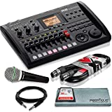 zoom drum machine - Zoom R8 8-Track Digital Recorder/Interface/Controller/Sampler with Samson Supercardioid Neodymium Dynamic Handheld Microphone and Accessory Bundle