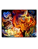 DECORARTS Abstract Art(Stained Glass Pattern), Giclee Prints abstract modern canvas wall art for Wall Decor. 30x24 x 1.5