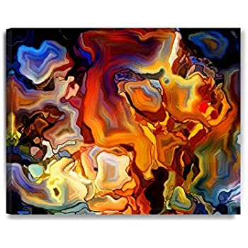 DecorArts   Abstract Art( Stained Glass Pattern), Giclee Prints Abstract  Modern Canvas Wall
