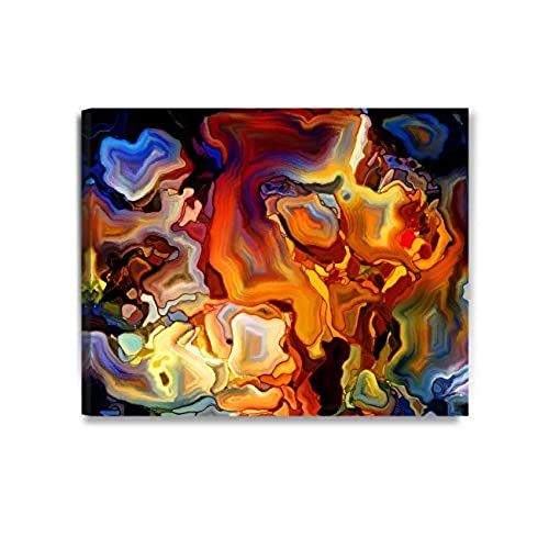 Good DECORARTS Abstract Art(Stained Glass Pattern), Giclee Prints Abstract  Modern Canvas Wall Art For Wall Decor. 30x24 X 1.5