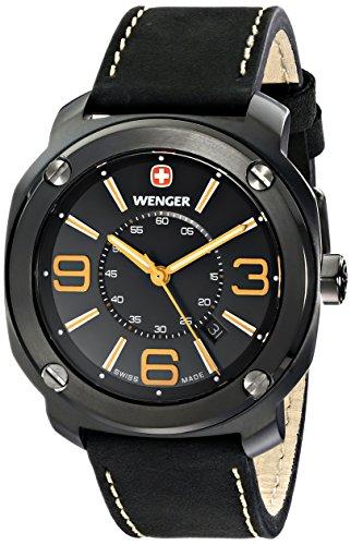 Wenger Men's 01.1051.106 Escort Analog Display Swiss Quartz Black Watch