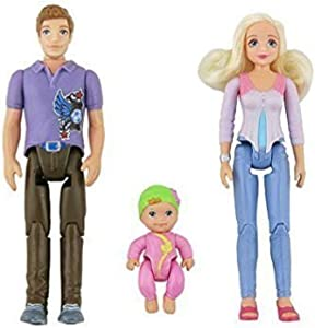 2014 Fisher-Price Loving Family Dollhouse Replacements Figures Mom Dad and Baby