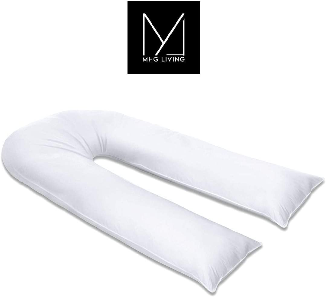 MHG Living/™ Pregnancy Pillow Body Pillows For Adults Soft touch Maternity Pillow Long pillow U shape Extra Fill Breastfeeding Pillow