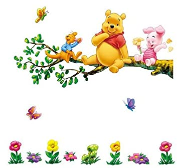 Winnie Pooh Tiger Co Baum Dekor Furs Kinderzimmer Wandtattoo