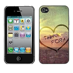 Paccase / SLIM PC / Aliminium Casa Carcasa Funda Case Cover - Love Thank For - Apple Iphone 4 / 4S