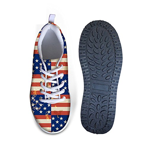 Style Shape American for Women Flag Platfomr 2 Sneakers CHAQLIN Shoes Swing B5xwF