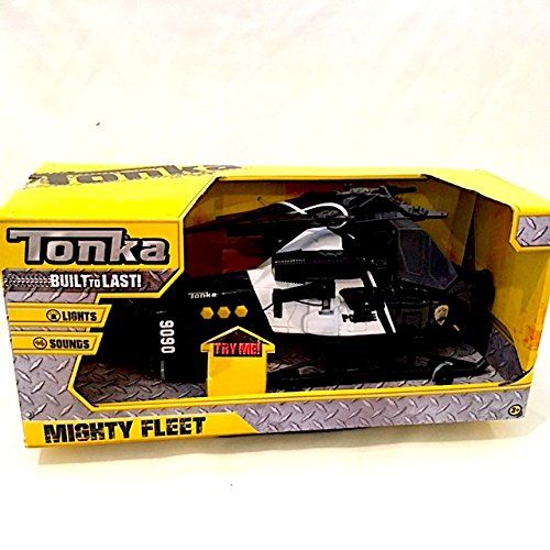 Mighty Fleet Tonka Police Helicopter with Sounds - Black & White (Helicopter Tonka)