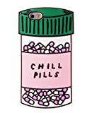 Green Chill Pills Case Compatible with Apple iPhone 6 6s iPhone6 iPhone6s Regular Size Thick Soft Silicone Gel Rubber Shockproof Protective Cool Fun Cute Capsule Gift Kids Teens Girls Men Women Guys